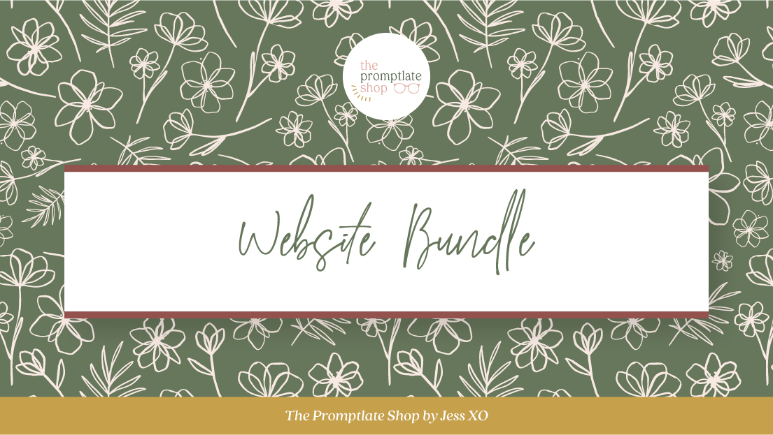 The Promptlate Shop by Jess, XO - Website Bundle | 1/2 Prompts, 1/2 Templates to help you craft website copy you are proud of & that actually attracts your dreamy clients.