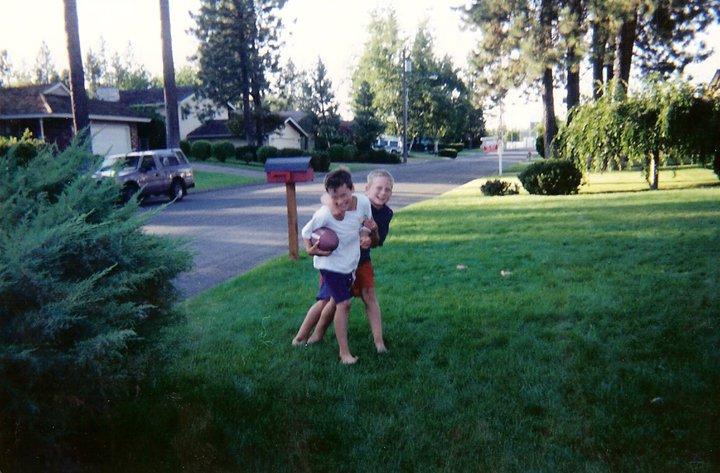 Eddie, about to smash me to the ground. Circa 1998.
