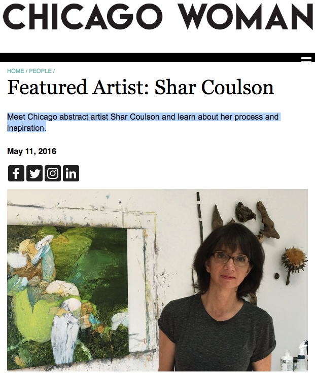 CHICAGO WOMAN     Featured Artist Shar Coulson   Meet Chicago abstract artist Shar Coulson and learn about her…..