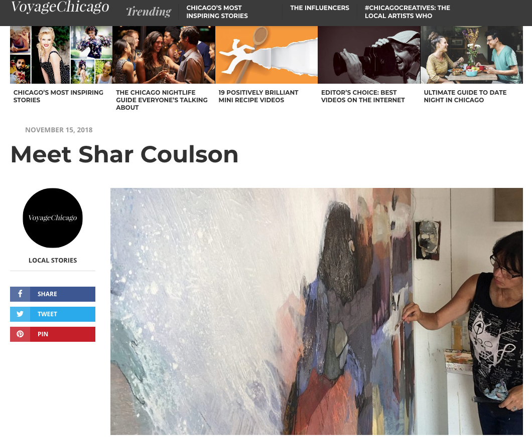 VOYAGE CHICAGO | Chicago City Guide     Meet Shar Coulson   Today we'd like to introduce you to Shar Coulson.   So, before we jump into specific questions, why don't you give us some details about you and your story.  I'm originally from Western Michigan, where I grew up loving everything outdoors…..