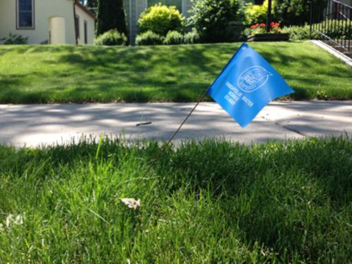 Example of utilities flag in suburban South Minnesapolis