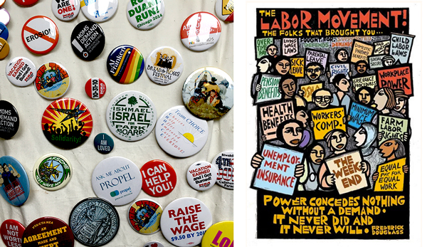 Badges,  Labor Movement  poster