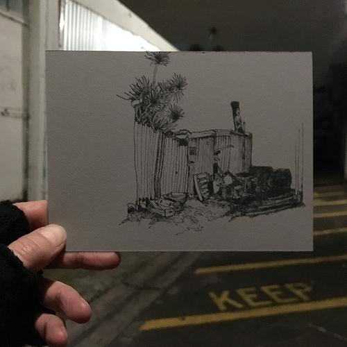 Plein air drawing on Hindley Street, Adelaide