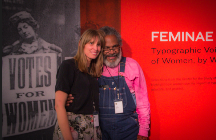 Wendy Murray with Amos Kennedy (printmaker)