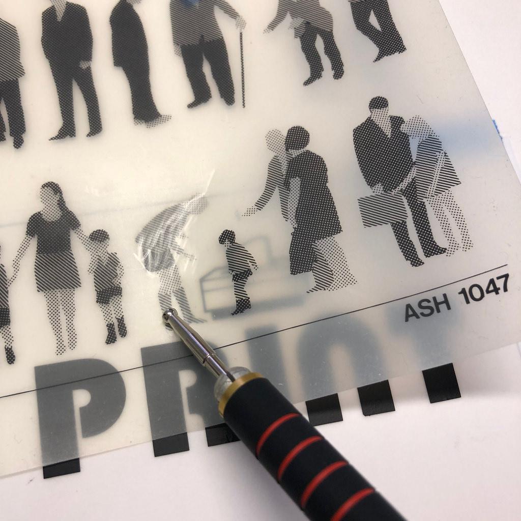 Transferring Letraset to drafting film