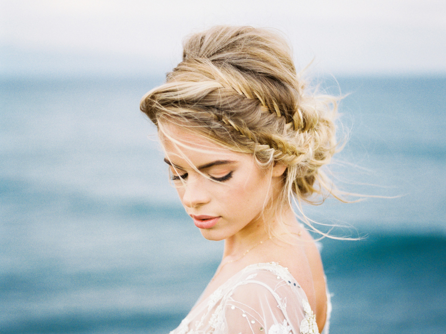 Romantic blush and gold maui bridal inspiration. To view full post,  click here.