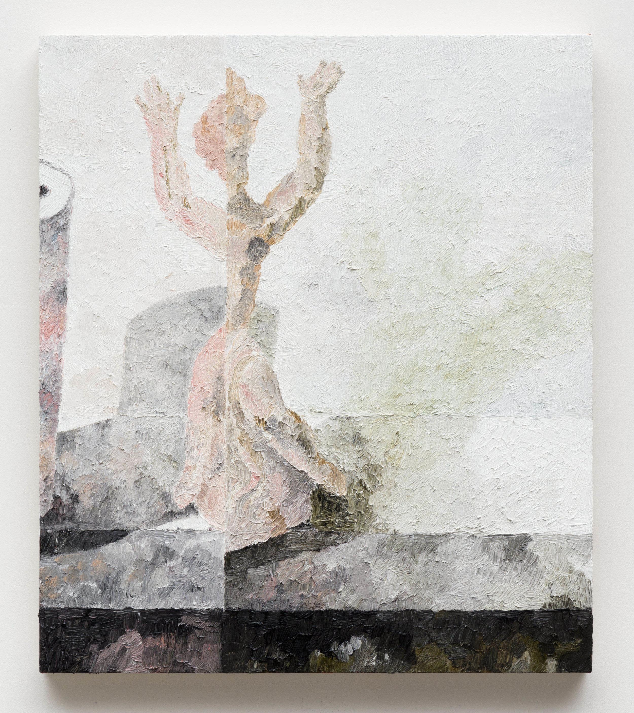 Memory Loss Cherub,  2017  Oil on canvas  30 x 26 inches