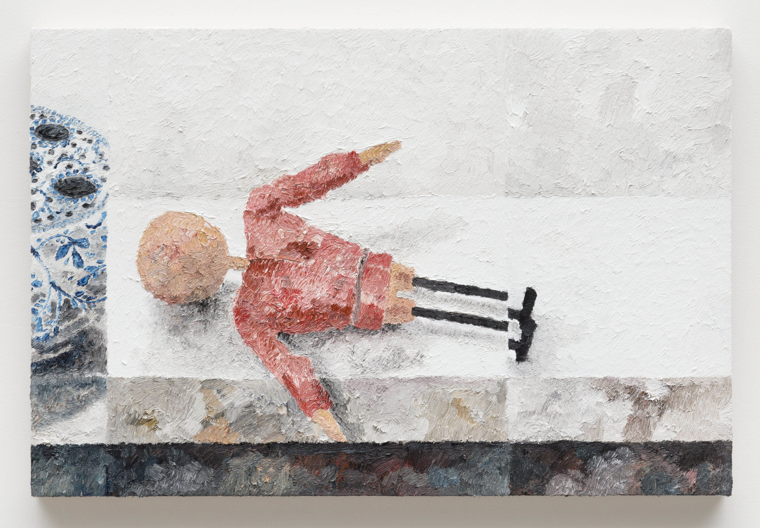 White Shelf, Broken Figure,  2017  Oil on canvas  20 x 30 inches