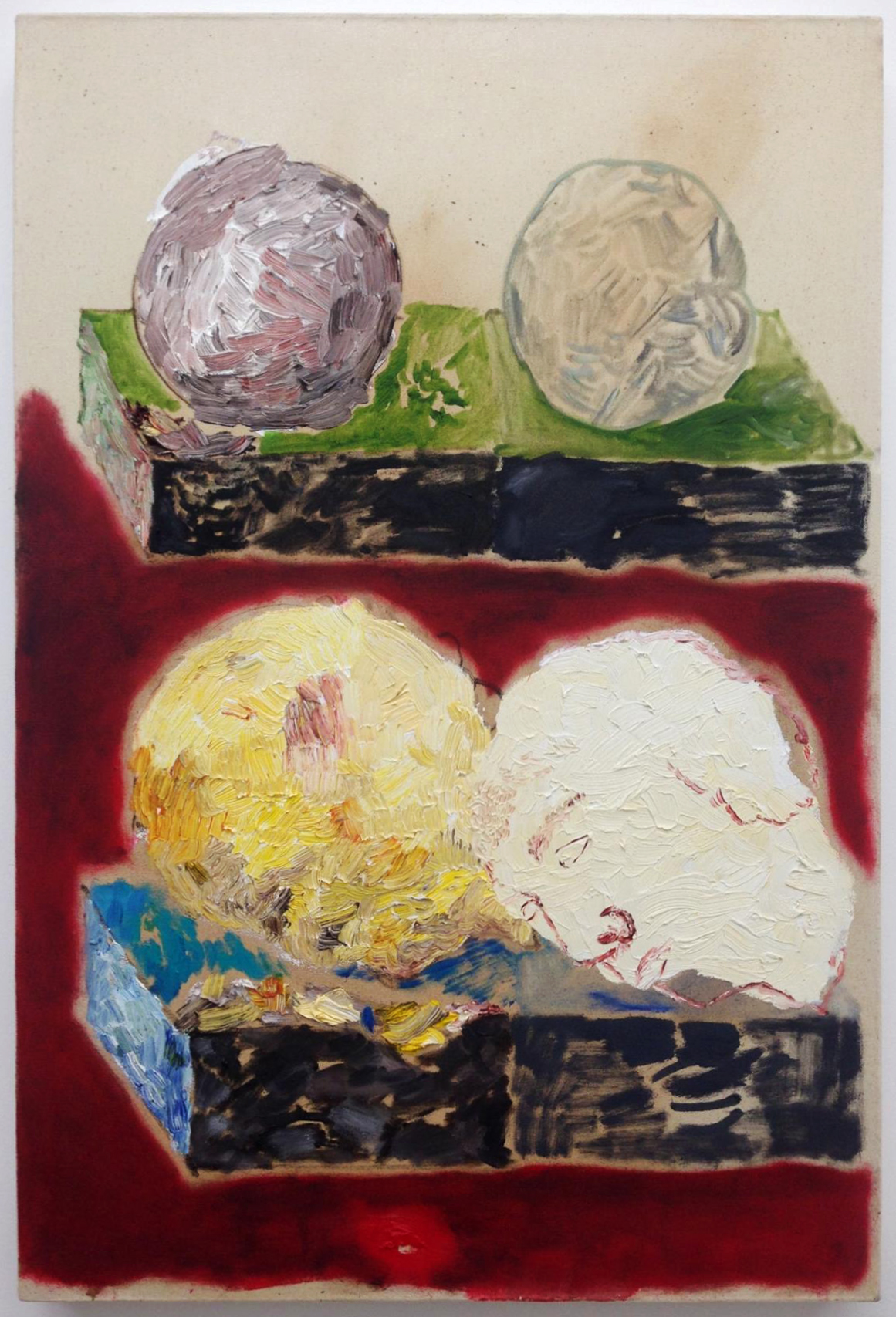 Love and Boredom, Proof 2,  2013  Oil on canvas  36 x 24 inches