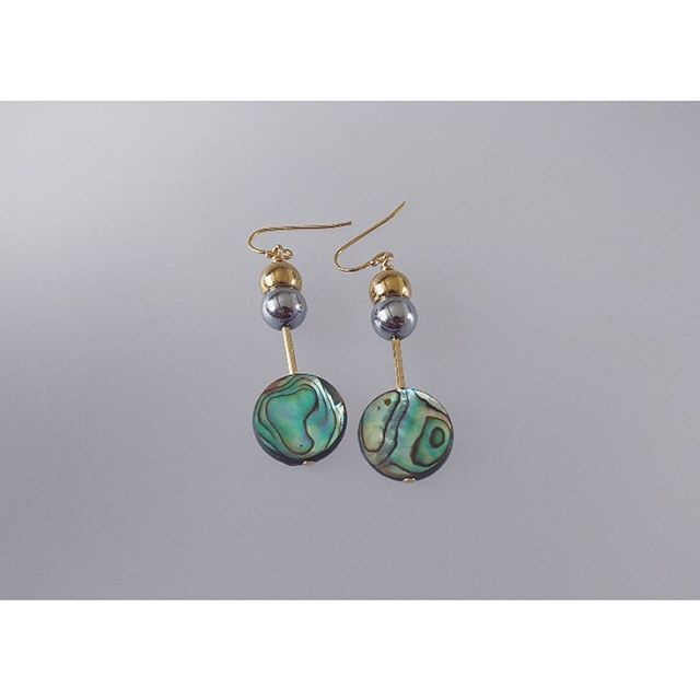 Abalone Coin Earrings  #CIITA #ciitaadornments #jewelry