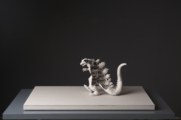 Michael Lee,  God's Villa , from the installation  Office Orchitect , 2011, paper board, 22 x 79 x 49 cm. Photo by Tan Hai Han. Collection of Yeap Lam Yang.