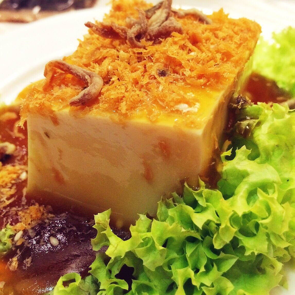 Cold Toufuwith Mushroom Sauce and Crispy Floss