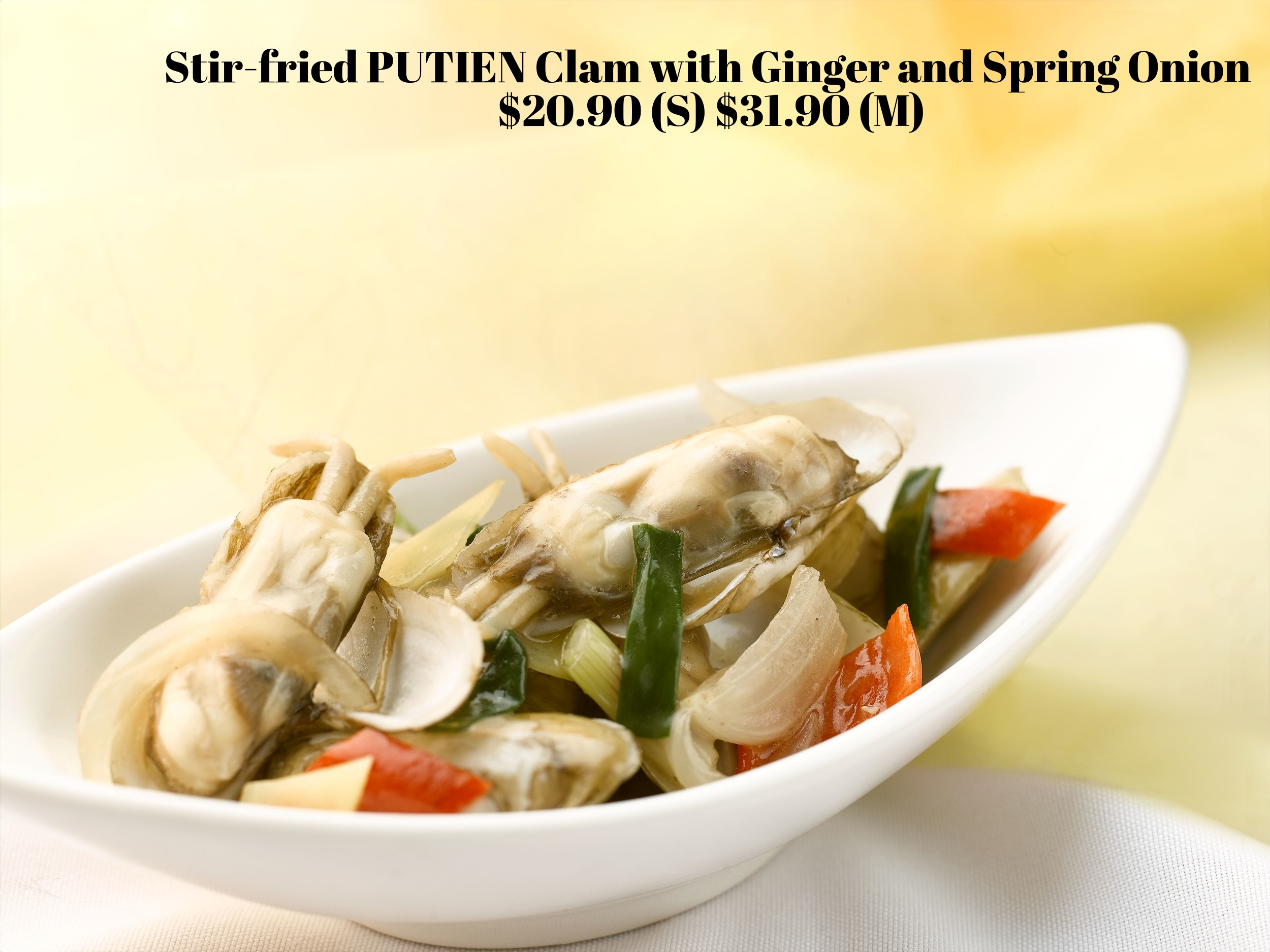 A wholesome dish that is cooked the traditional way to bring out the natural sweetness of the clams.