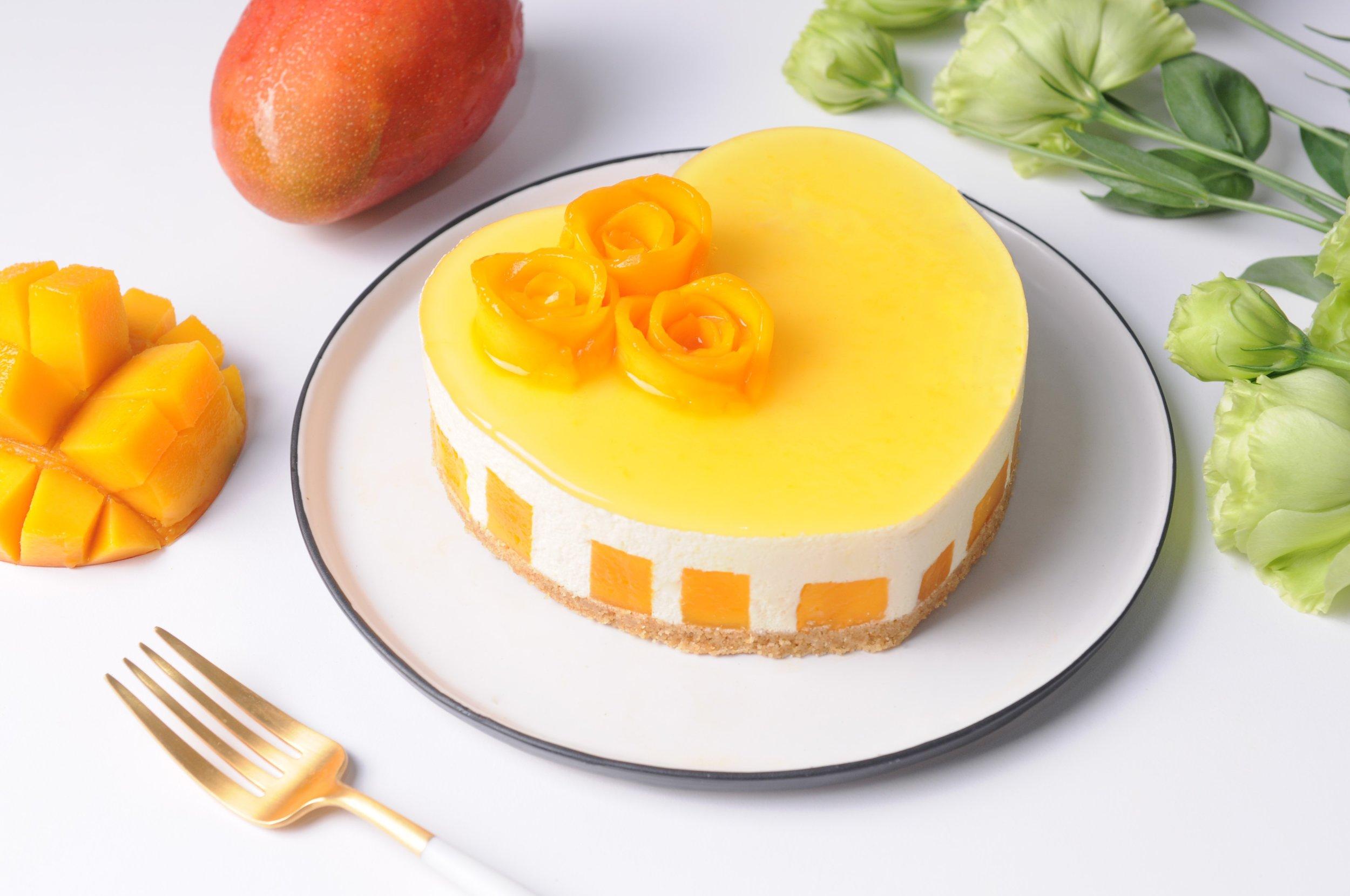 Whole-Hearted Mango Mousse Cake