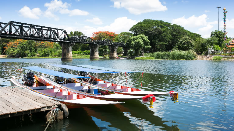 Kanchanaburi – the Bridge over the River Kwai – Credit: Shutterstock
