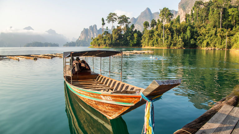 The peaceful lake of Khao Sok National Park – Credit: Shutterstock
