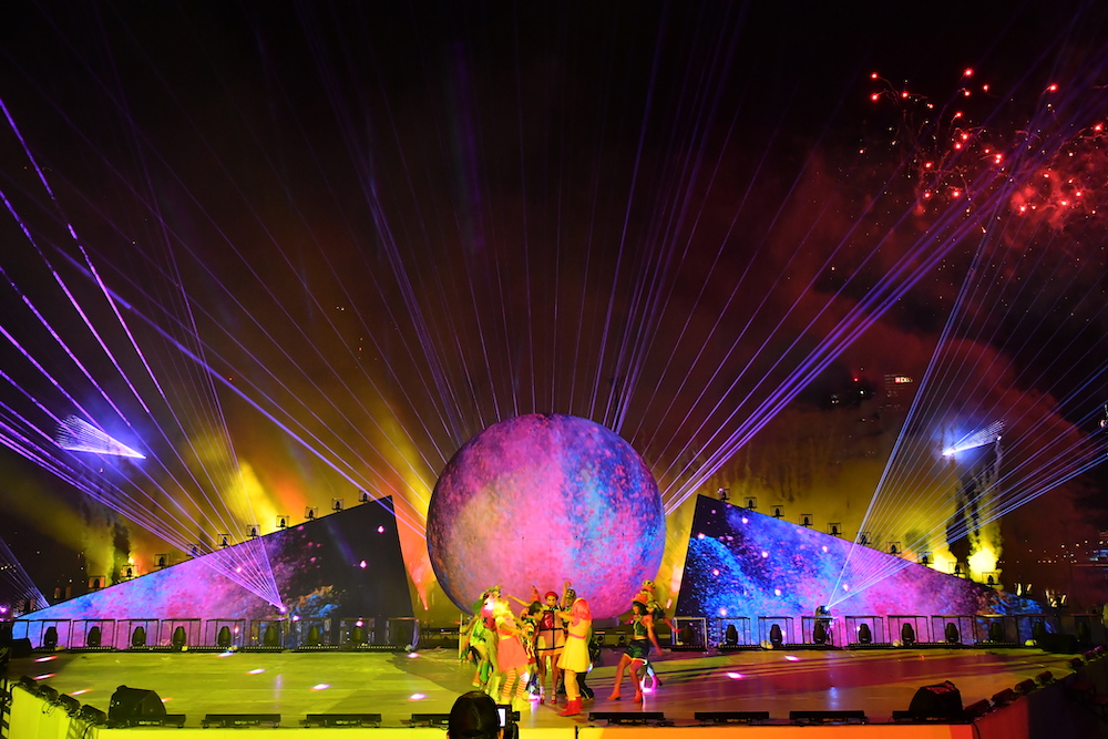 Dancers Amid Dancers and Fireworks at STAR ISLAND.JPG