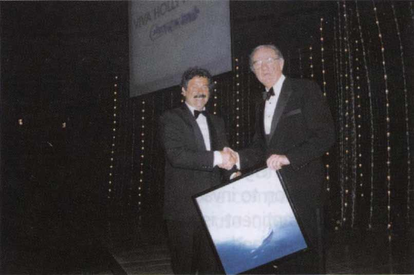 Rodolfo Viola e l'attore premio Oscar Karl Malden