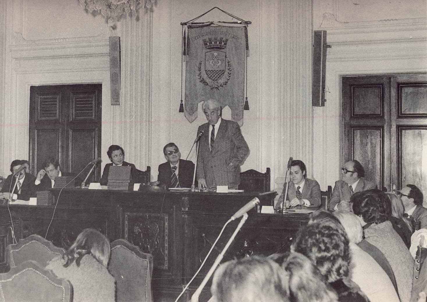 Silvio Ceccato alla presentazione del Museo dell'Universalismo