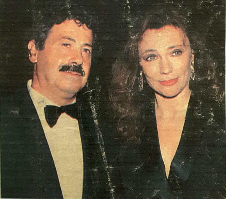 Rodolfo Viola con Jacqueline Bisset