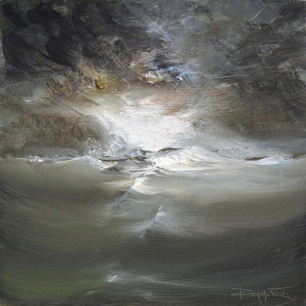 Rodolfo Viola ,  Acrome , oil on canvas, 50 x 50 cm.