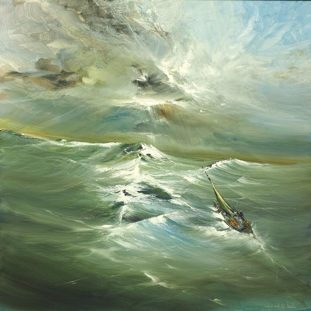 Rodolfo Viola ,  Marina , oil on canvas, 90 x 90 cm