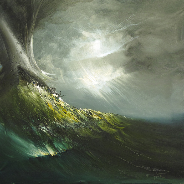 Rodolfo Viola ,  La grande onda , oil on canvas, 100 x 100 cm