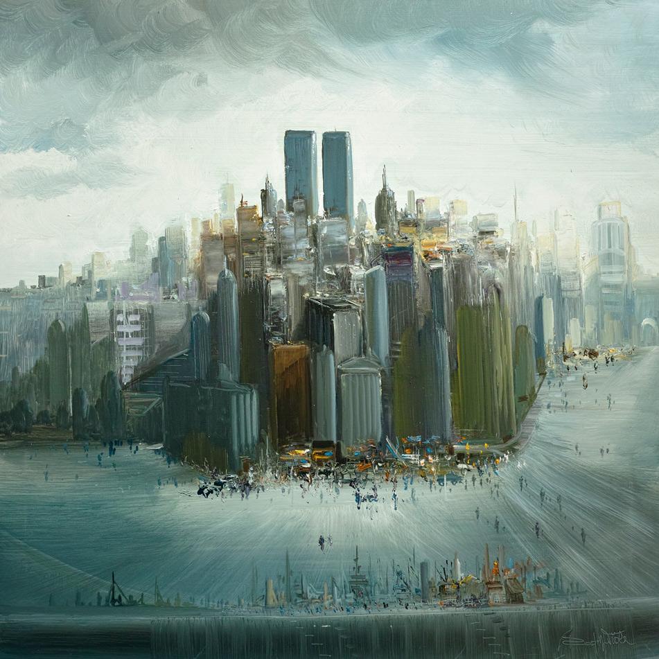 Rodolfo Viola ,  New York , oil on canvas, 100 x 100 cm