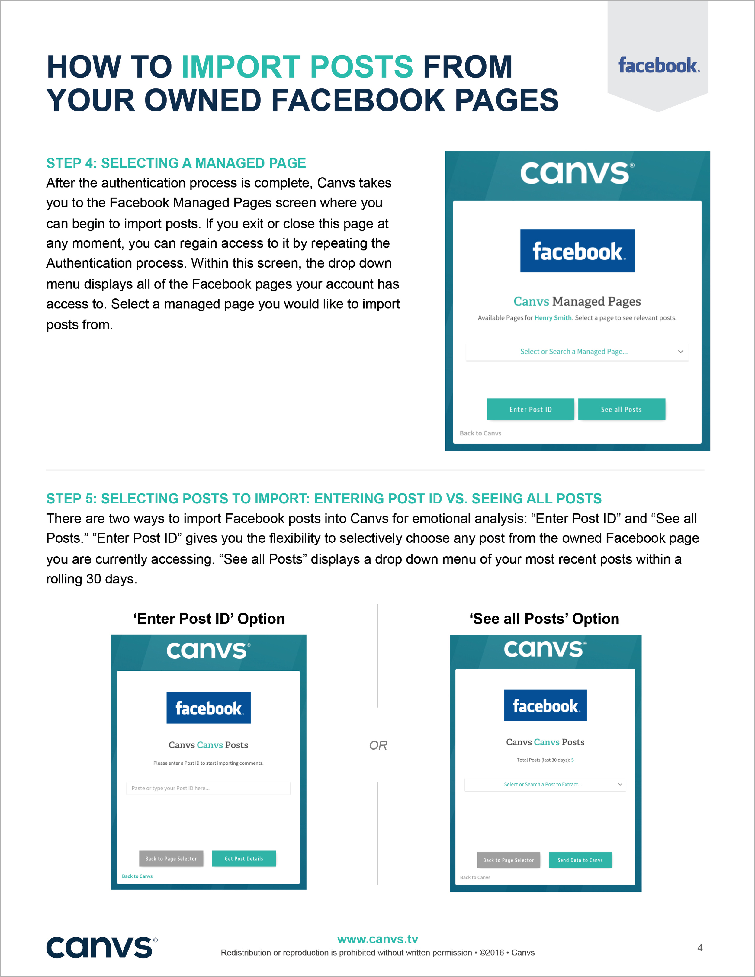 Canvs Facebook and YouTube Guide 2