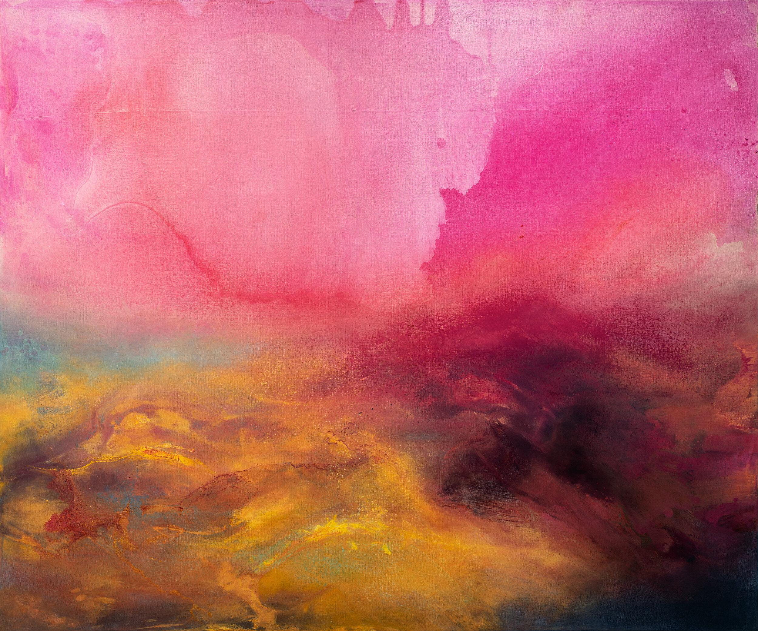 """Elixir, 50"""" x 60"""", oil and acrylic on canvas, 2019."""