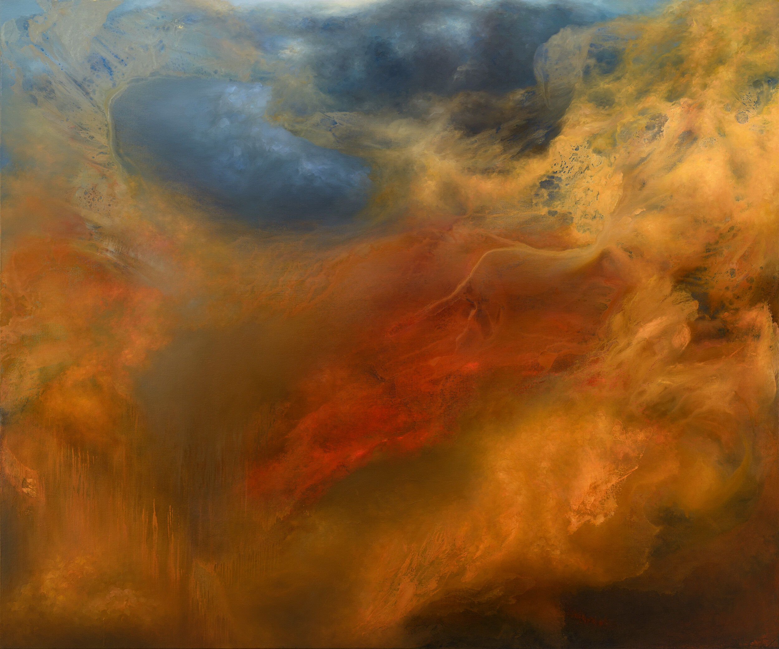 """Manifold, 60"""" x 72"""", oil on canvas, 2015, Samantha Keely Smith.  (also available as a Limited Edition Print  here )"""