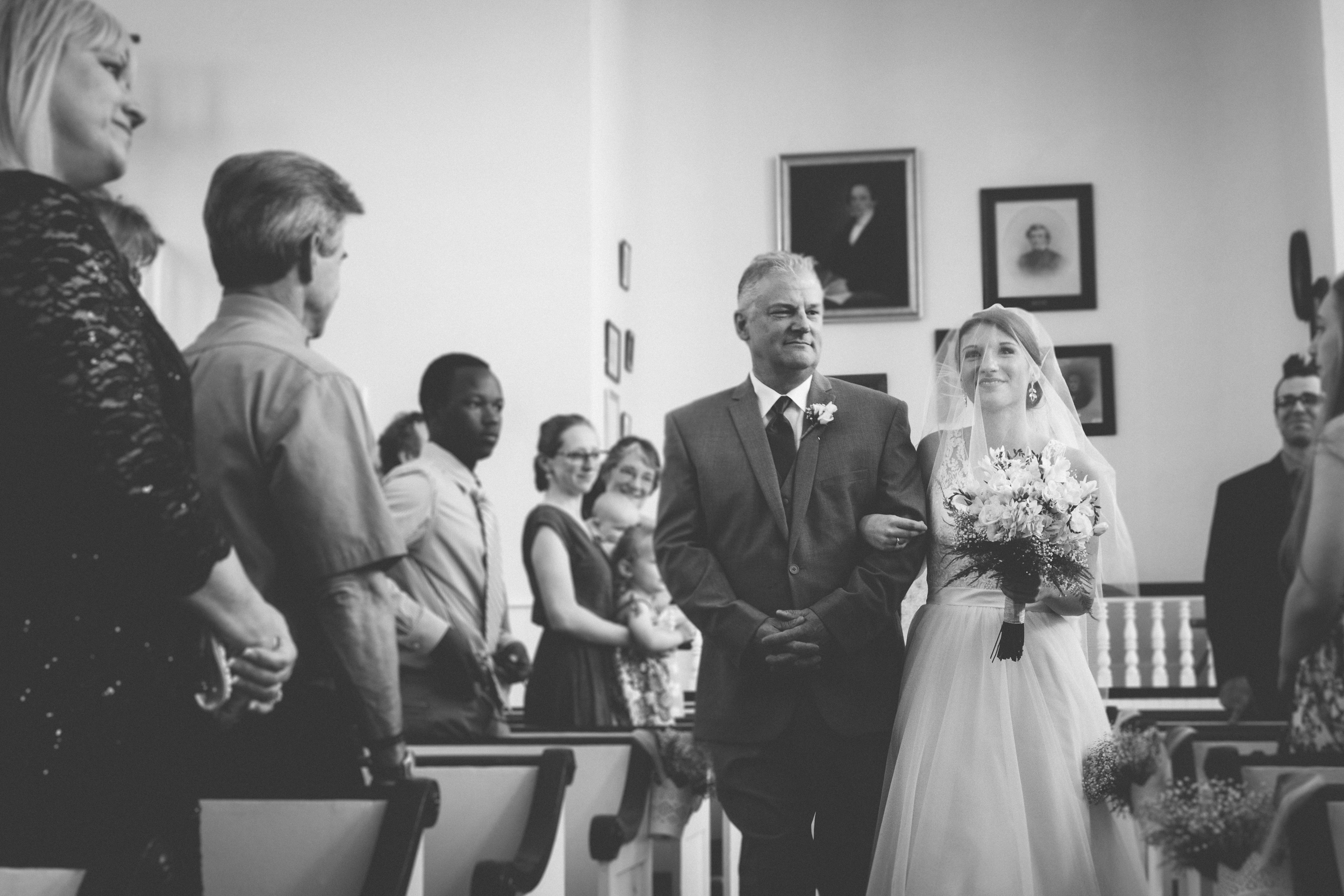 Walk down the aisle at Bliss Farm in Granville, Massachusetts. Sweet Alice Photography.