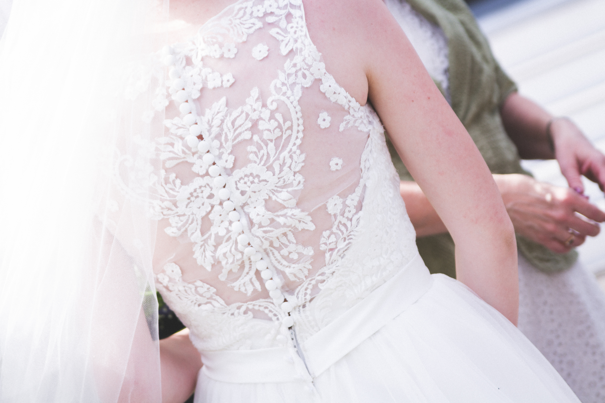 Lace gown at Bliss Farm in Granville, Massachusetts. Sweet Alice Photography.