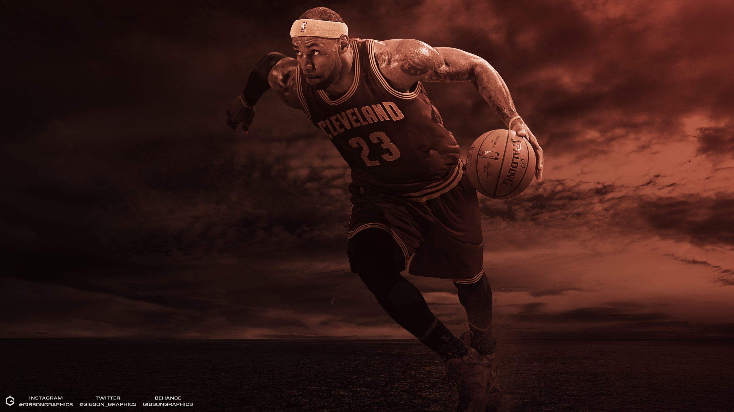 LeBron James Desert Wallpaper