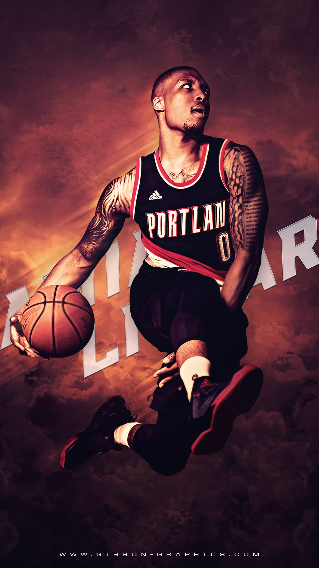 Damian Lillard iPhone 6 Plus Wallpaper