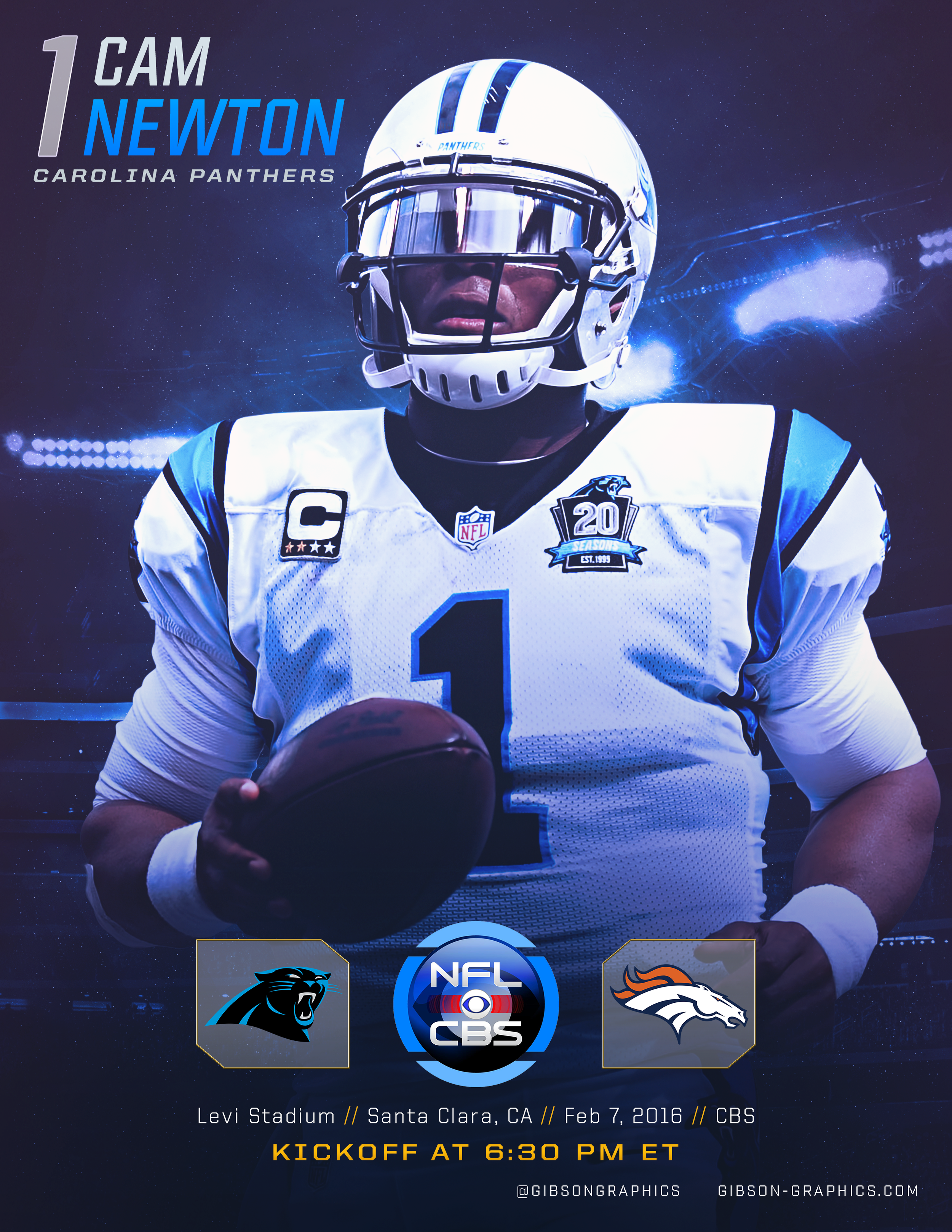 Cam Newton SB50 GameDay