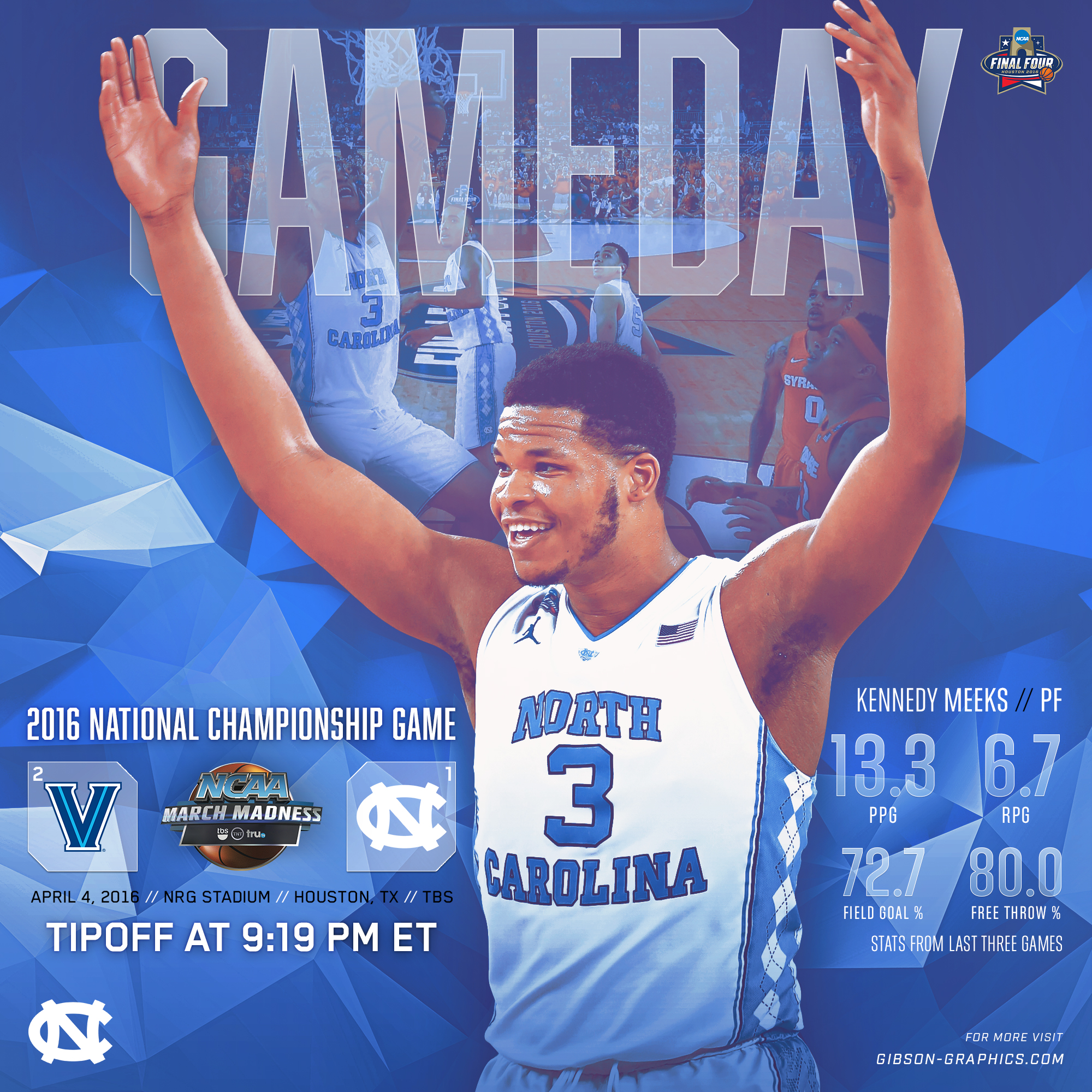 Kennedy Meeks 2016 National Championship Game