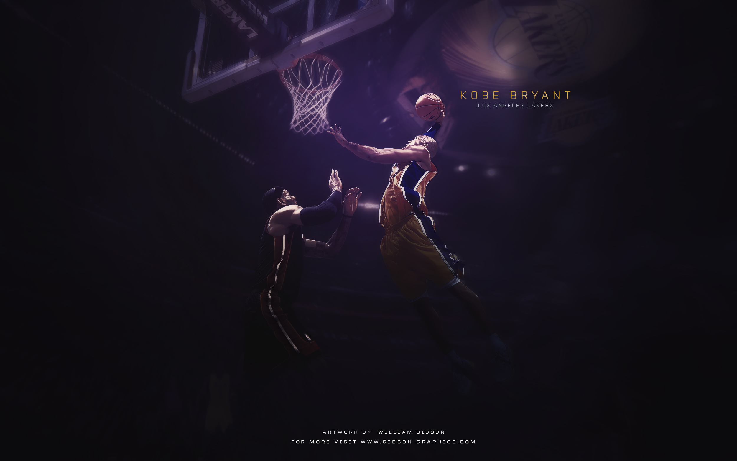 Kobe Bryant Dunk Artwork
