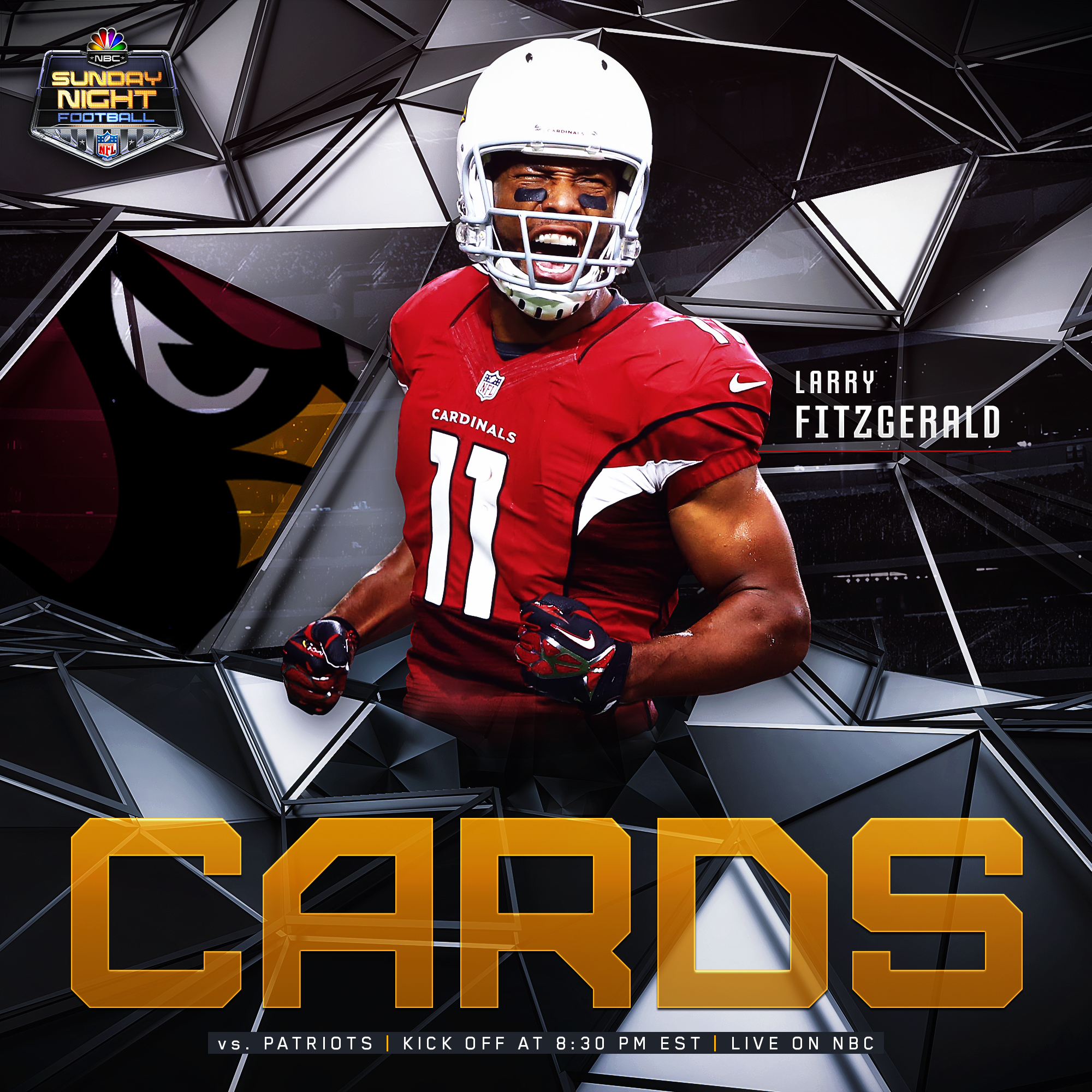 NBC SNF Larry Fitzgerald Social Graphic