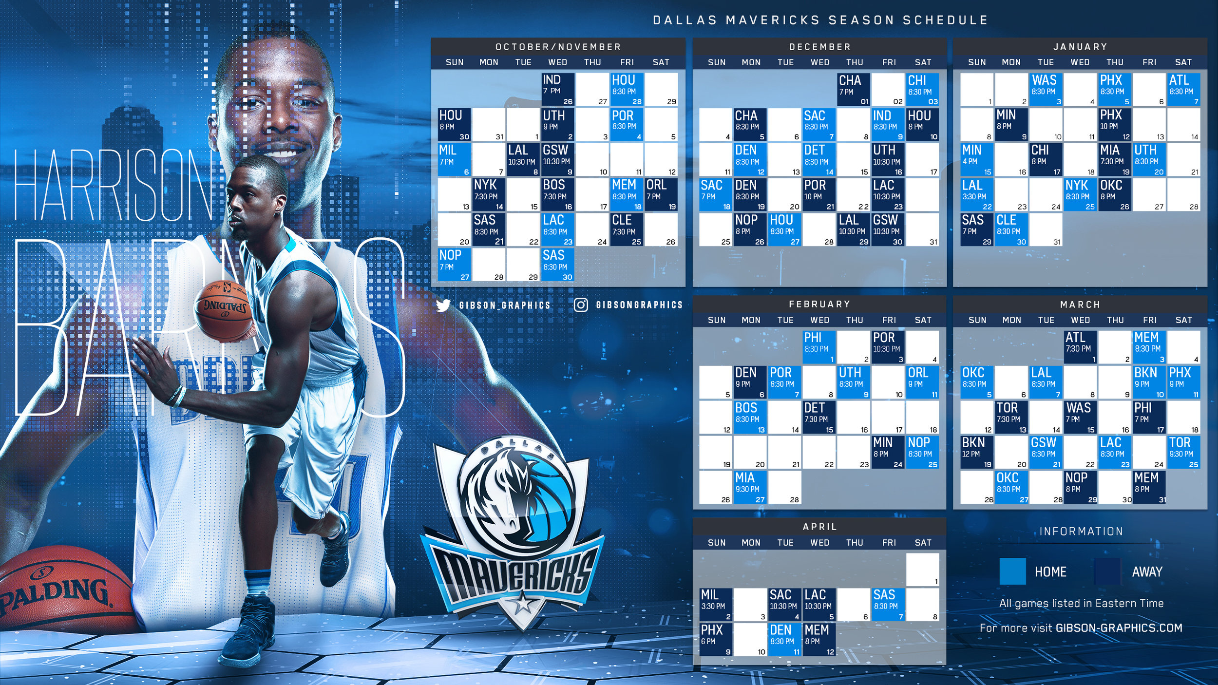 Dallas Mavericks Harrison Barnes 2016-17 Schedule Wallpaper