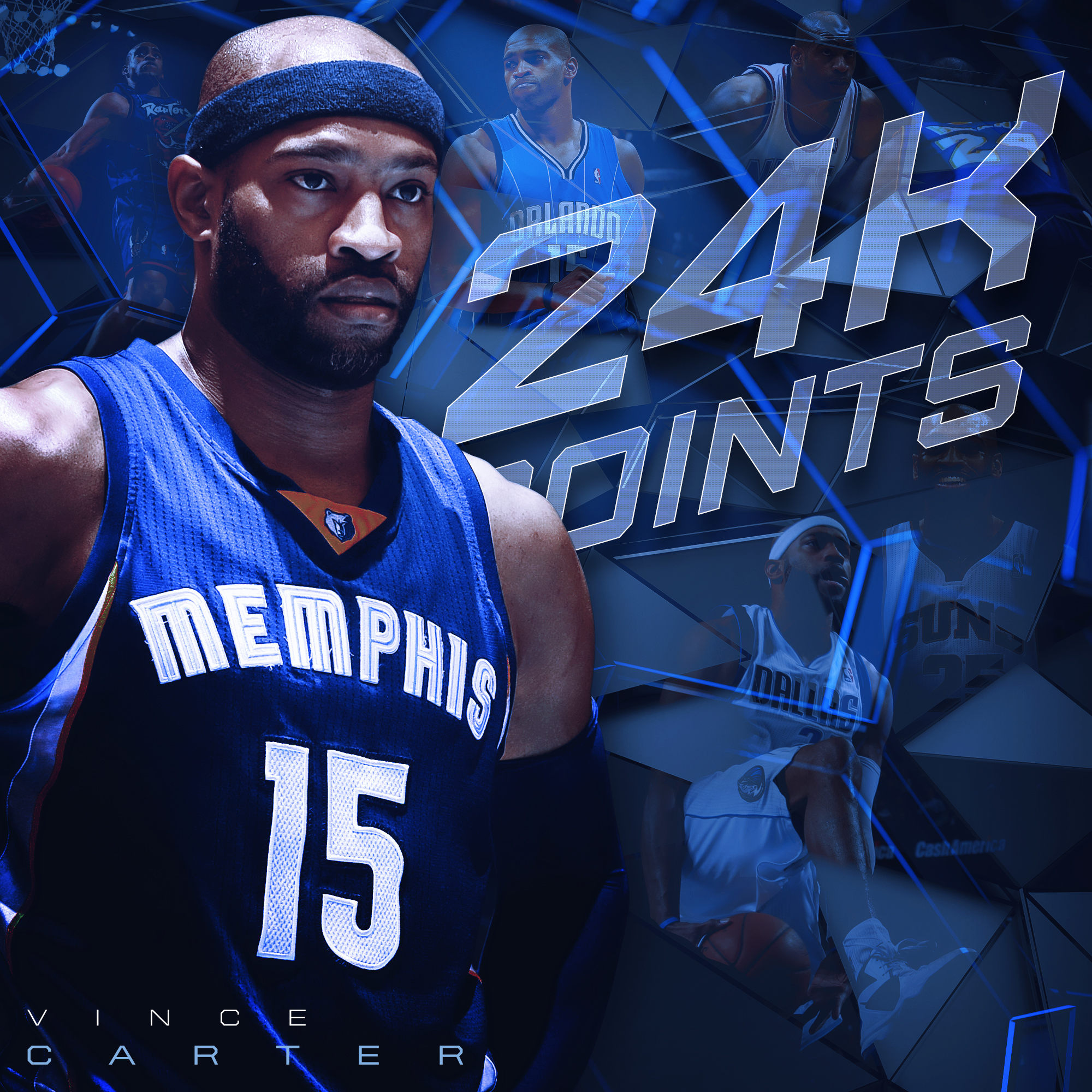 Vince Carter 24K Career Points in the NBA