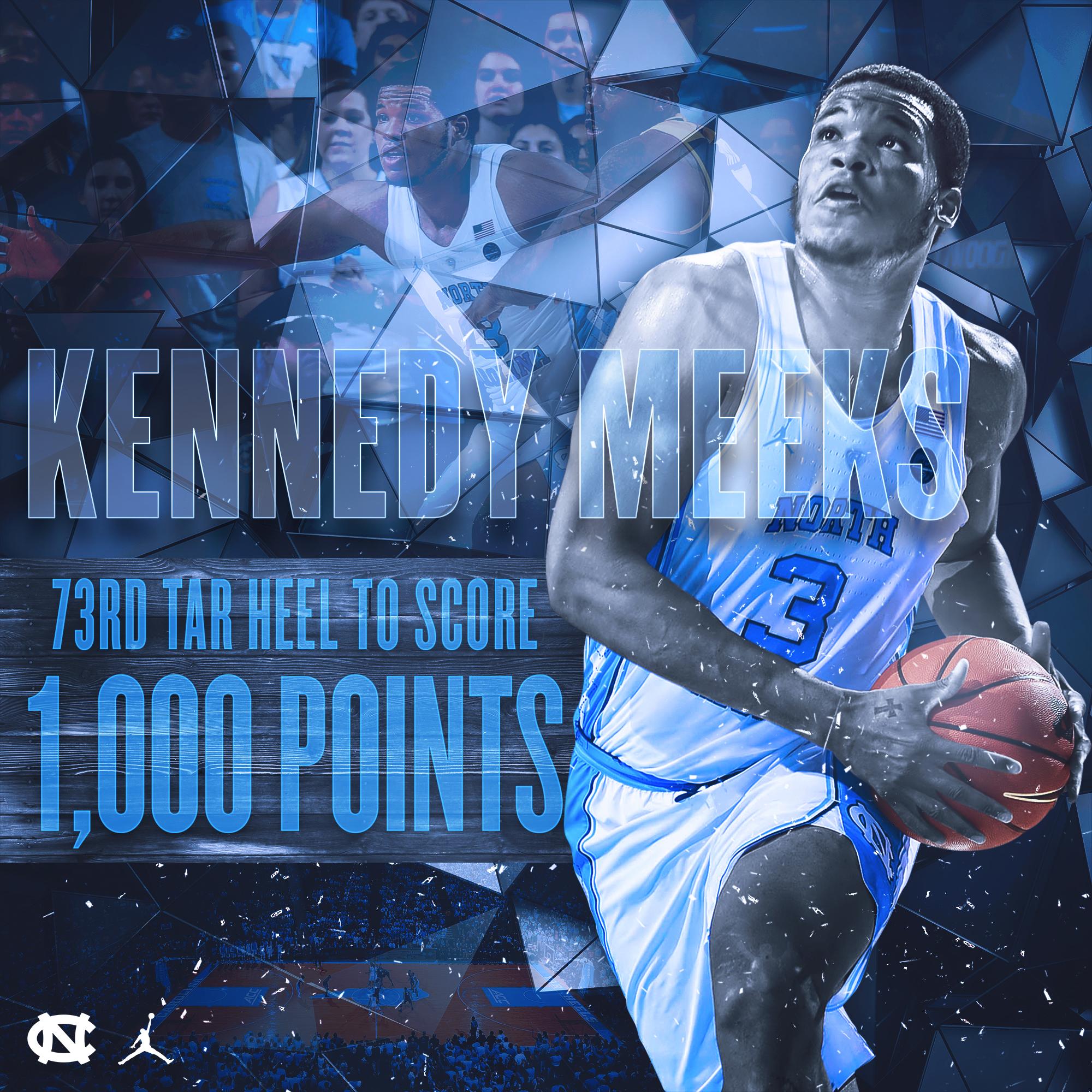 Kennedy Meeks 1,000 Career Points