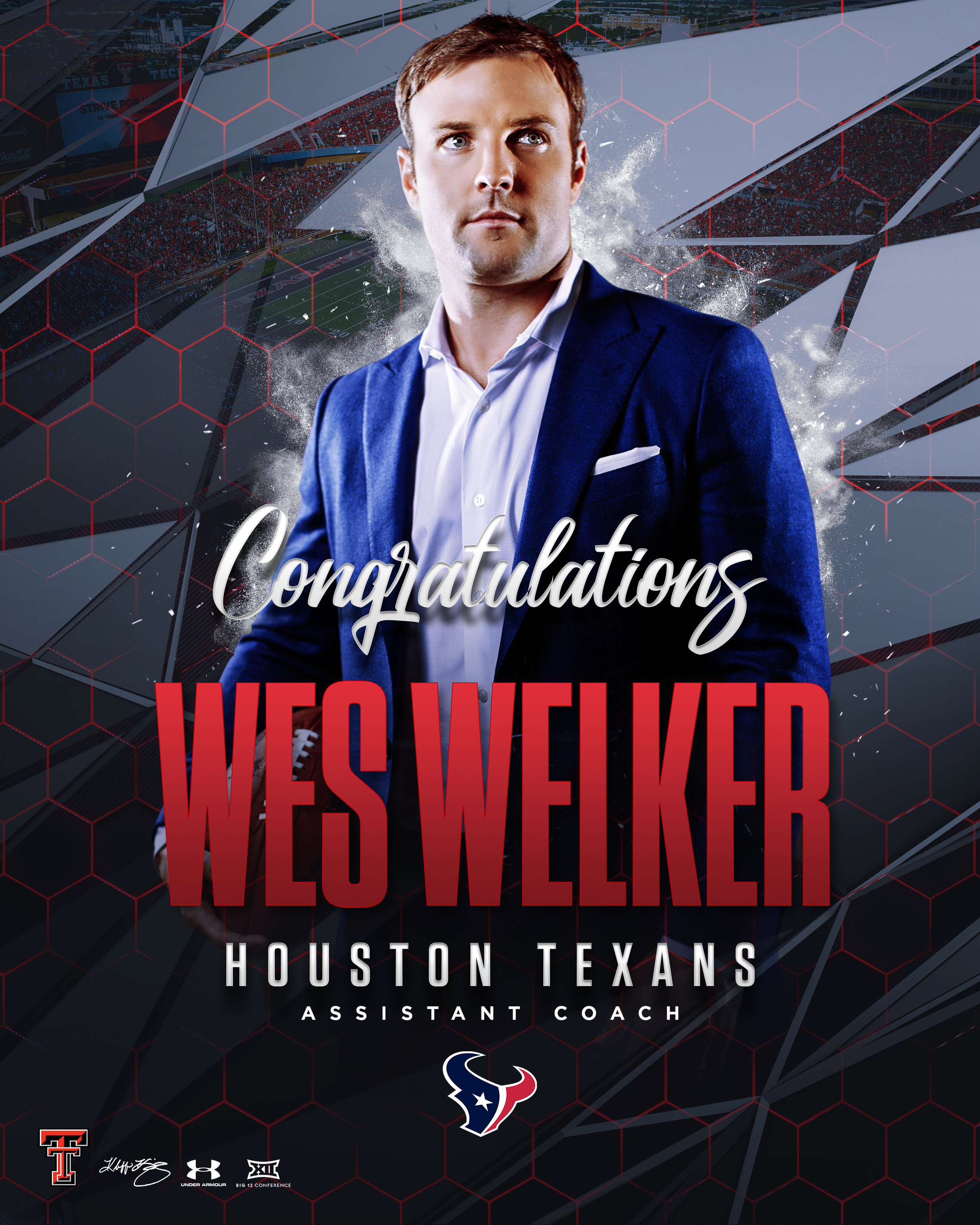 TTU Wes Welker Houston Texans Assistant Coach