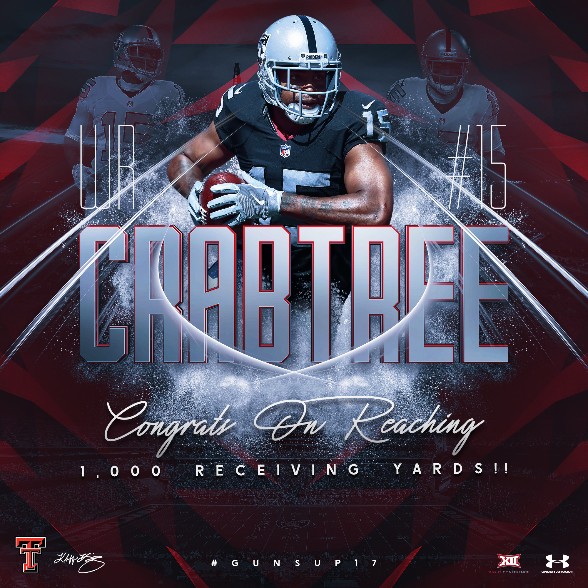 TTU Michael Crabtree 1K Receiving Yards