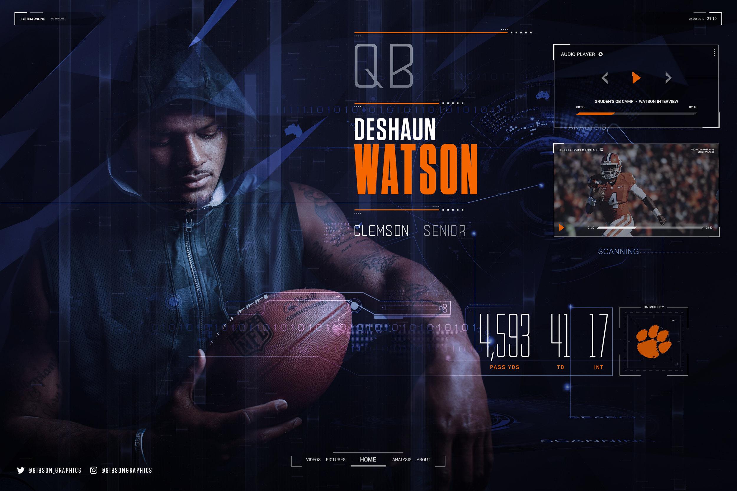 Deshaun Watson 2016 Clemson NFL Infographic