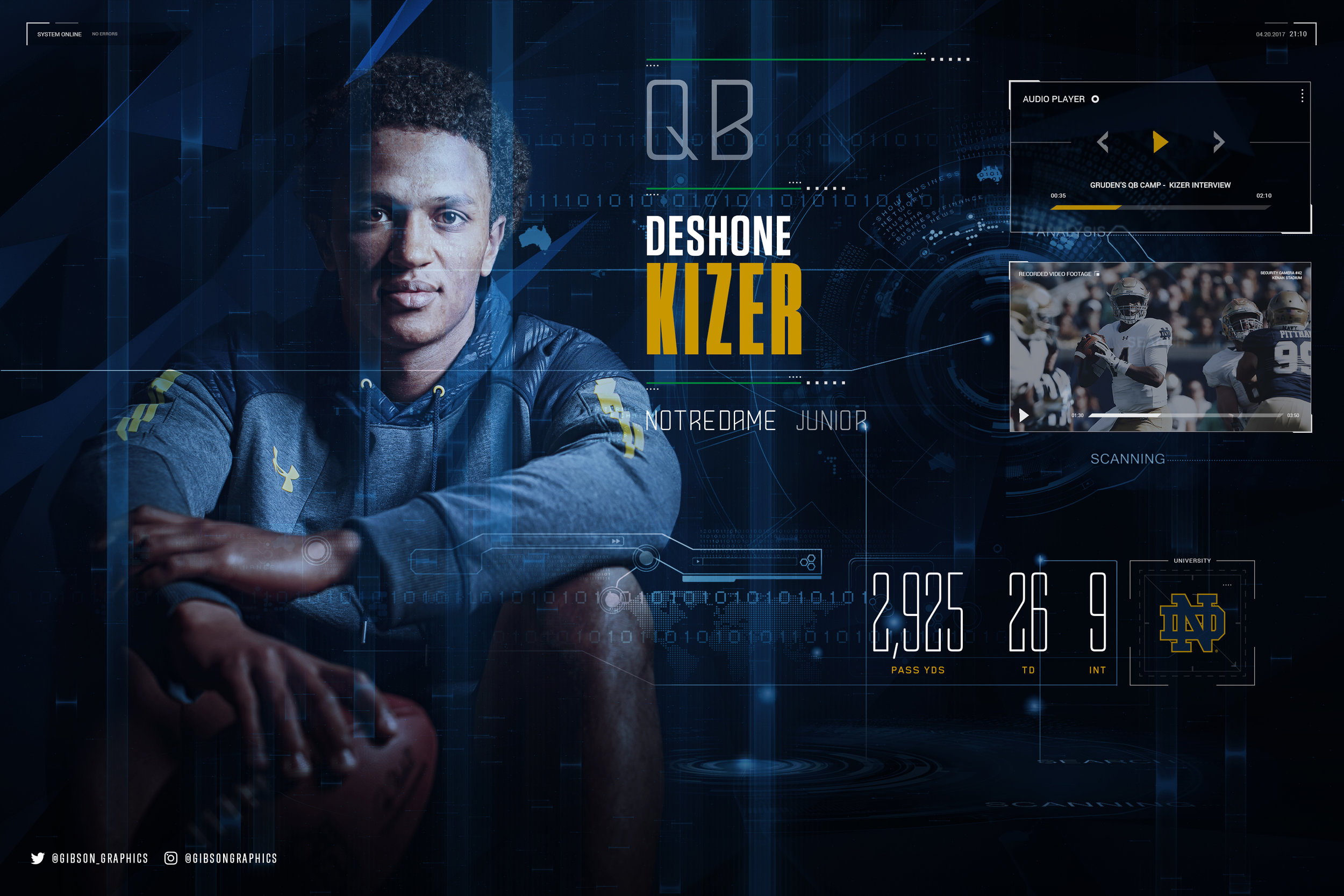 DeShone Kizer Notre Dame NFL Infographic