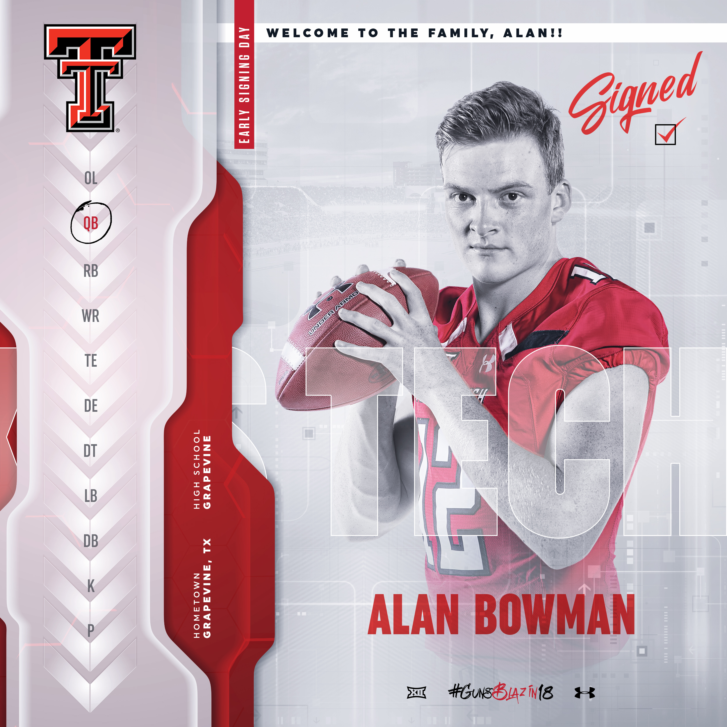 TTU Alan Bowman 2017 Early Signing Day