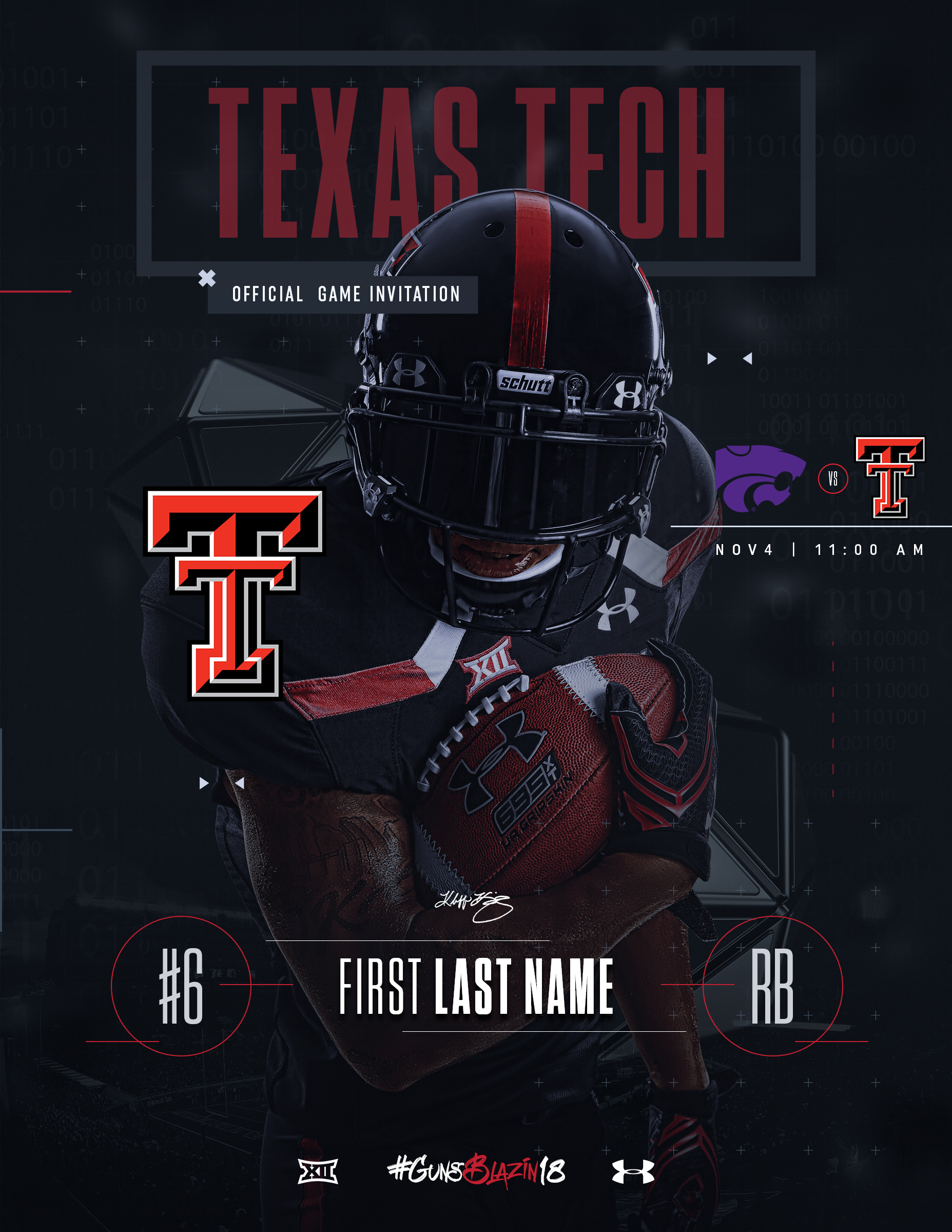 Texas Tech Football Recruit Invitation