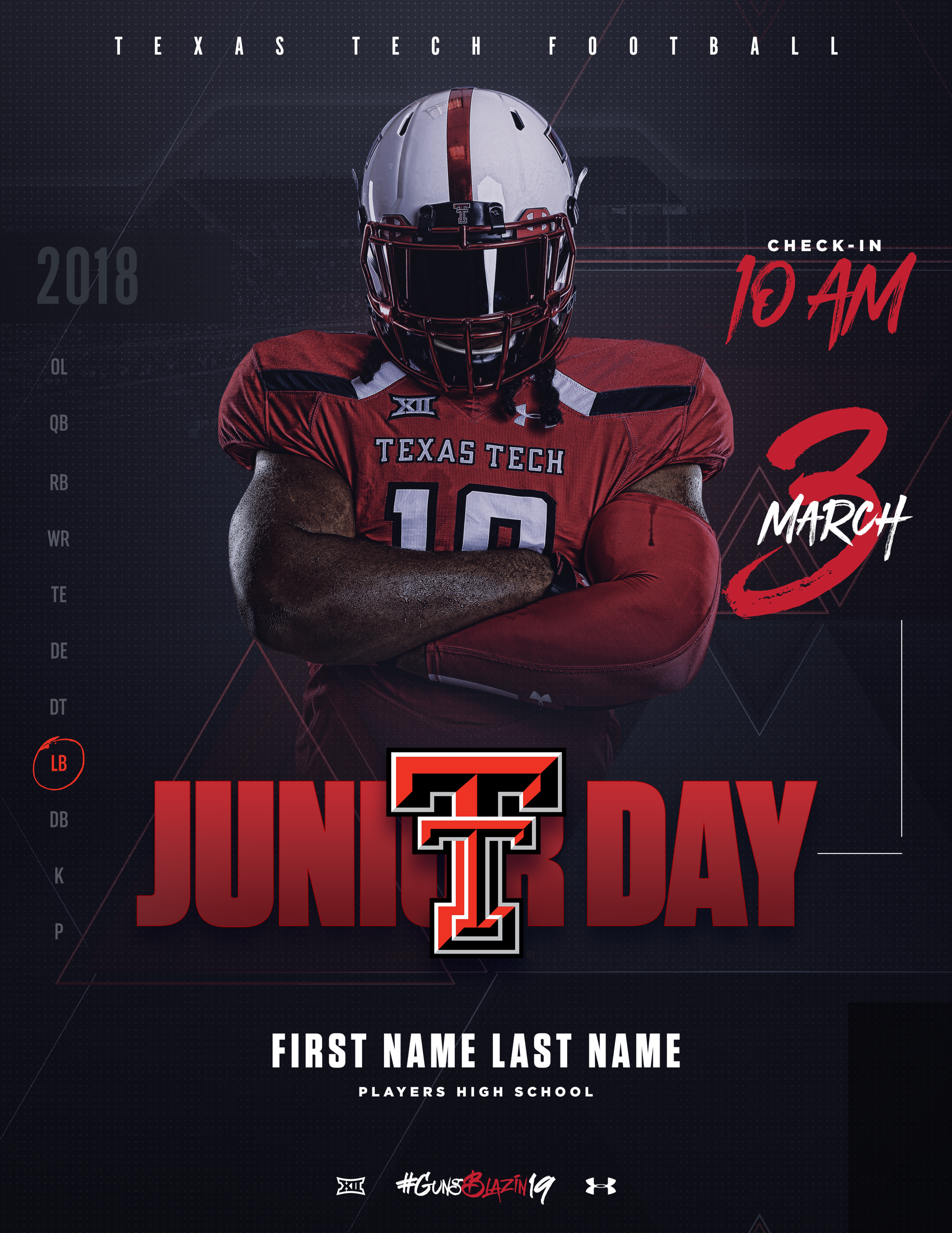 TTU FB Junior Day Invite Template