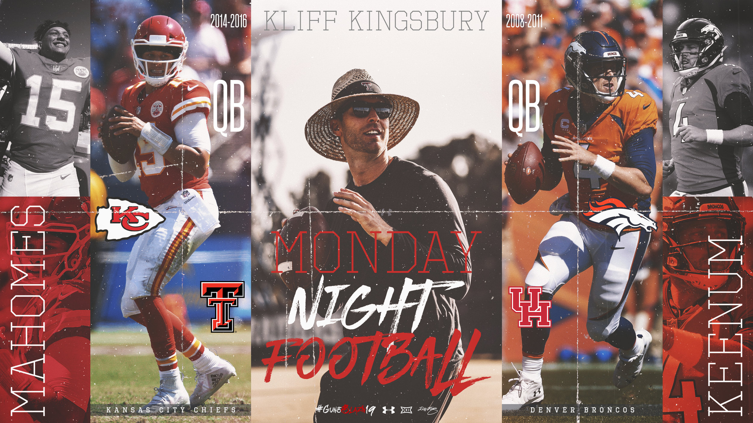 Mahomes VS Keenum Kingsburry Recruit Graphic